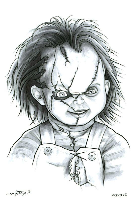 Chucky Para Colorear