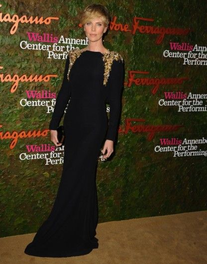 Charlize Theron in Alexander McQueen.