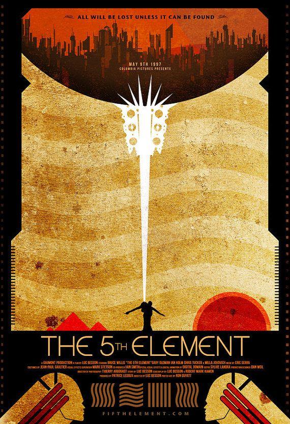 NEW THE FIFTH ELEMENT BRUCE WILLIS CLASSIC MOVIE ORIGINAL PRINT PREMIUM POSTER