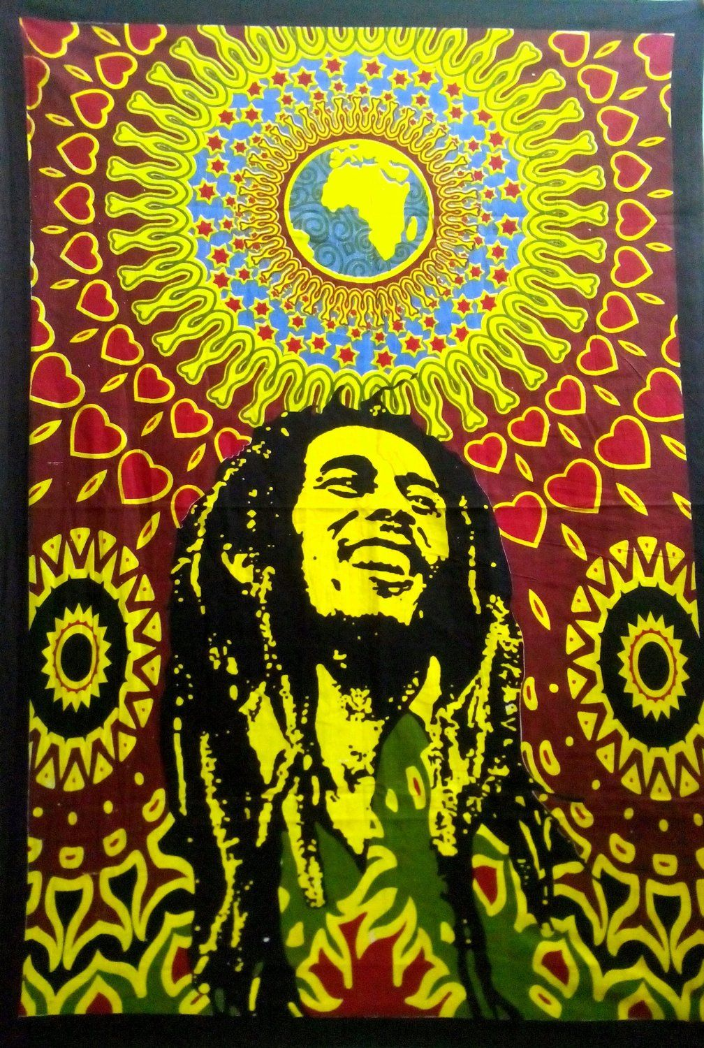 Amazon.com - Bob Marley Wall Art #Mandala Hippie #Tapestry Cotton ...