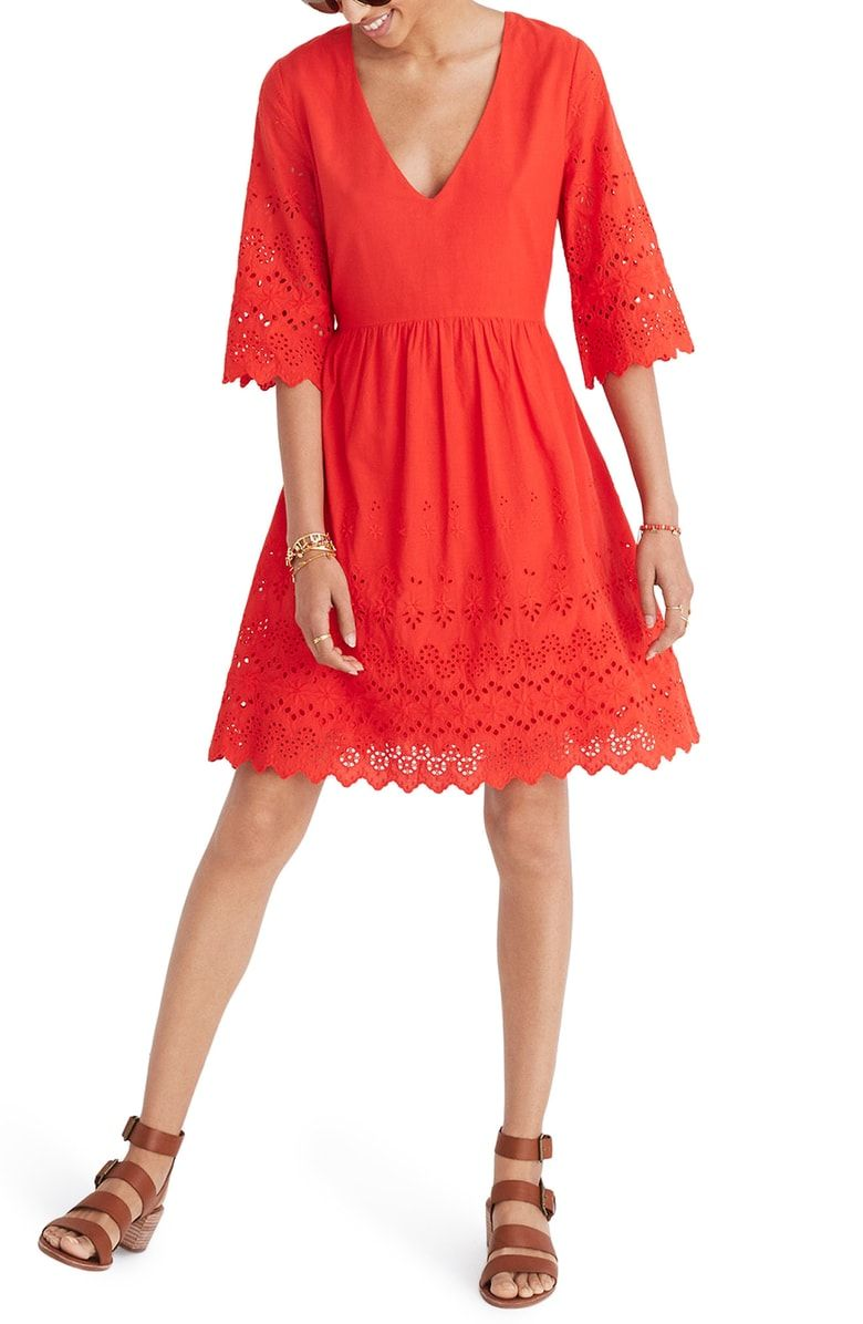 553d58e8bc Free shipping and returns on Madewell Eyelet Lattice Dress at ...