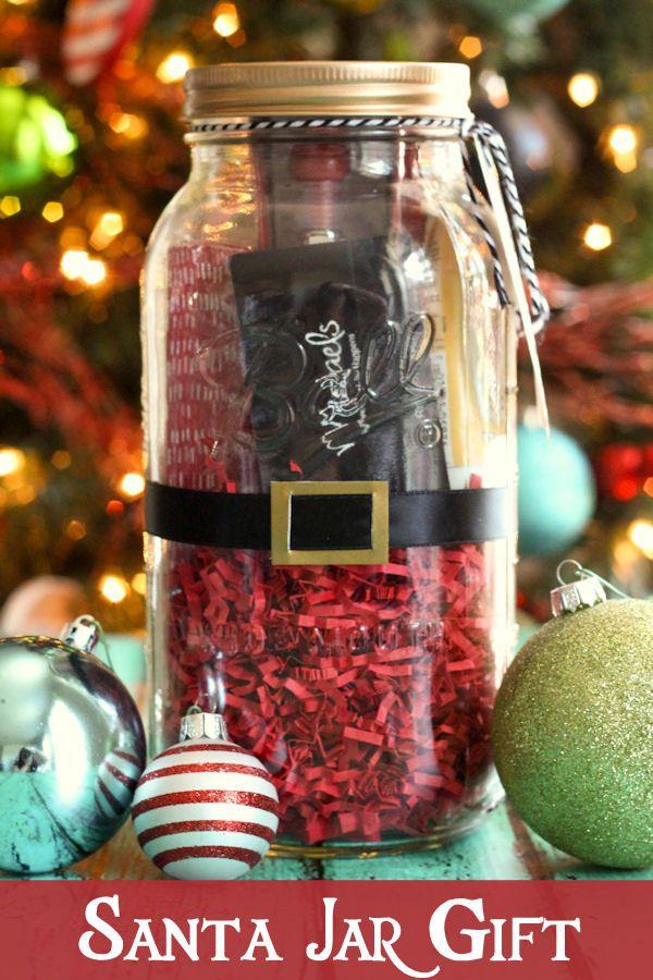 Santa Jar Gift Easy Christmas Gifts Jar Gifts Diy Christmas Gifts
