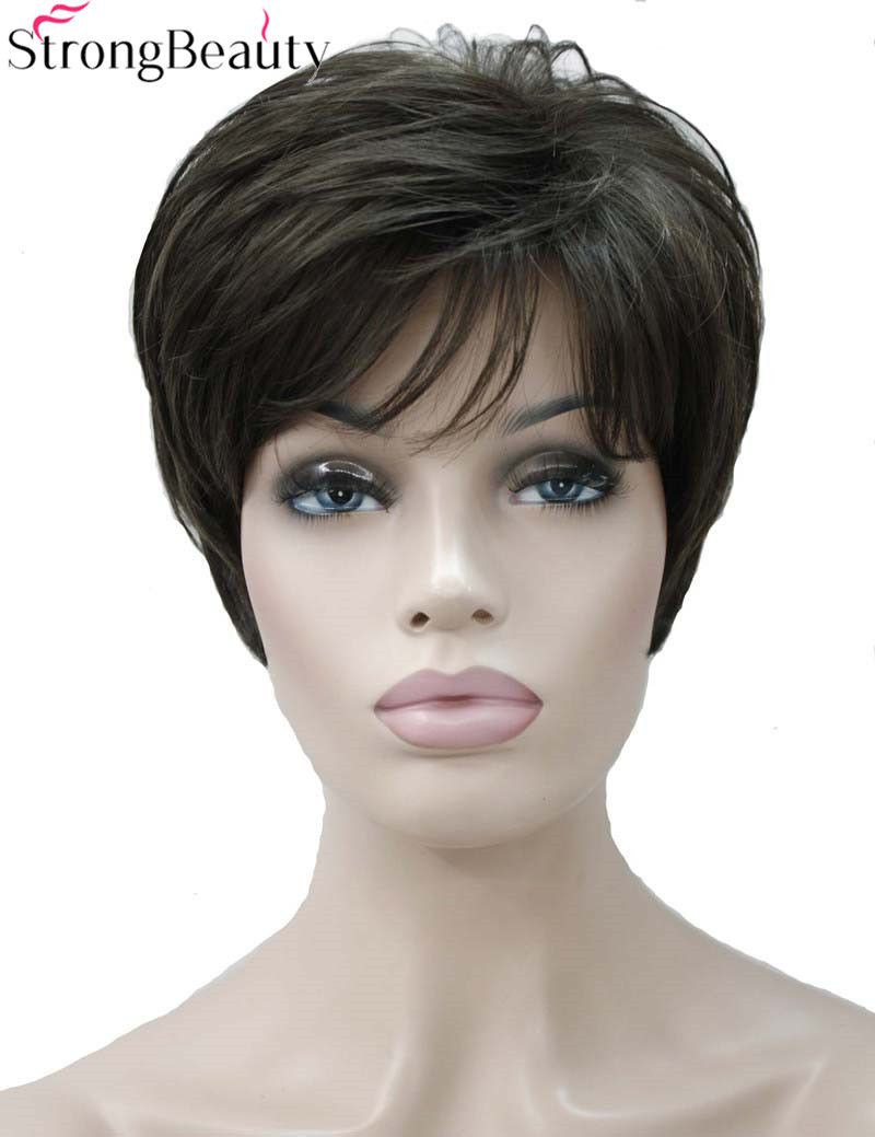 Strong beauty synthetic short body wave wigs color women hair full