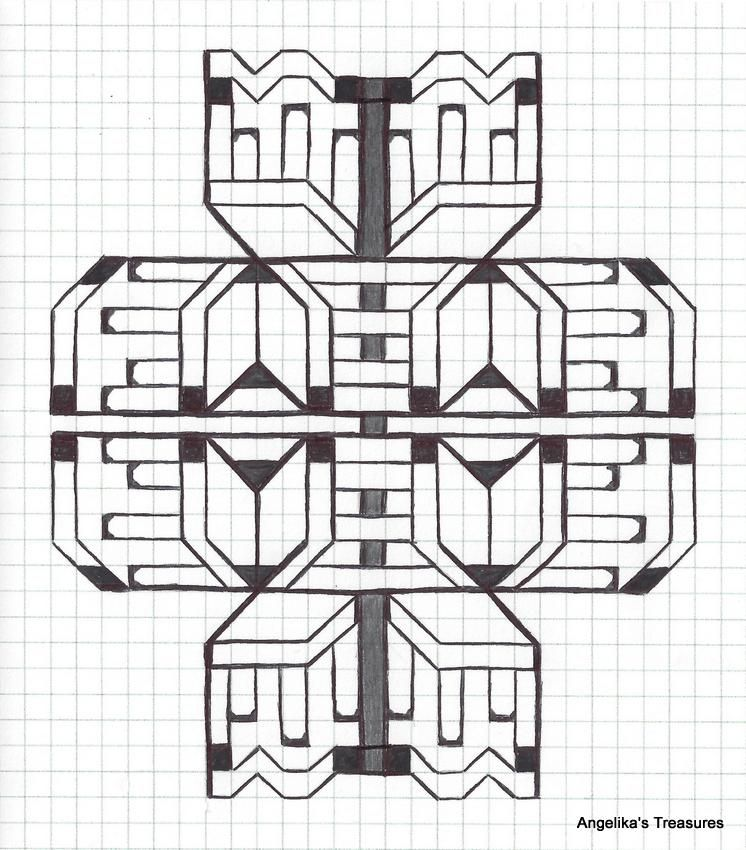 Graph Paper art made by myself Gepind vanaf Graph paper Art - 3d graph paper