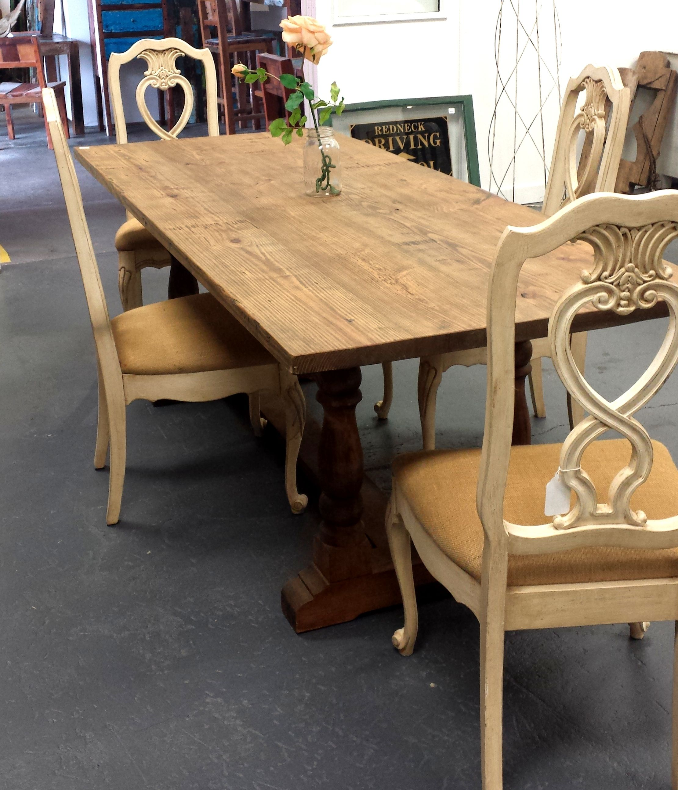Reclaimed kitchen table  Dining Table made from Reclaimed Southern Pine  Tables from