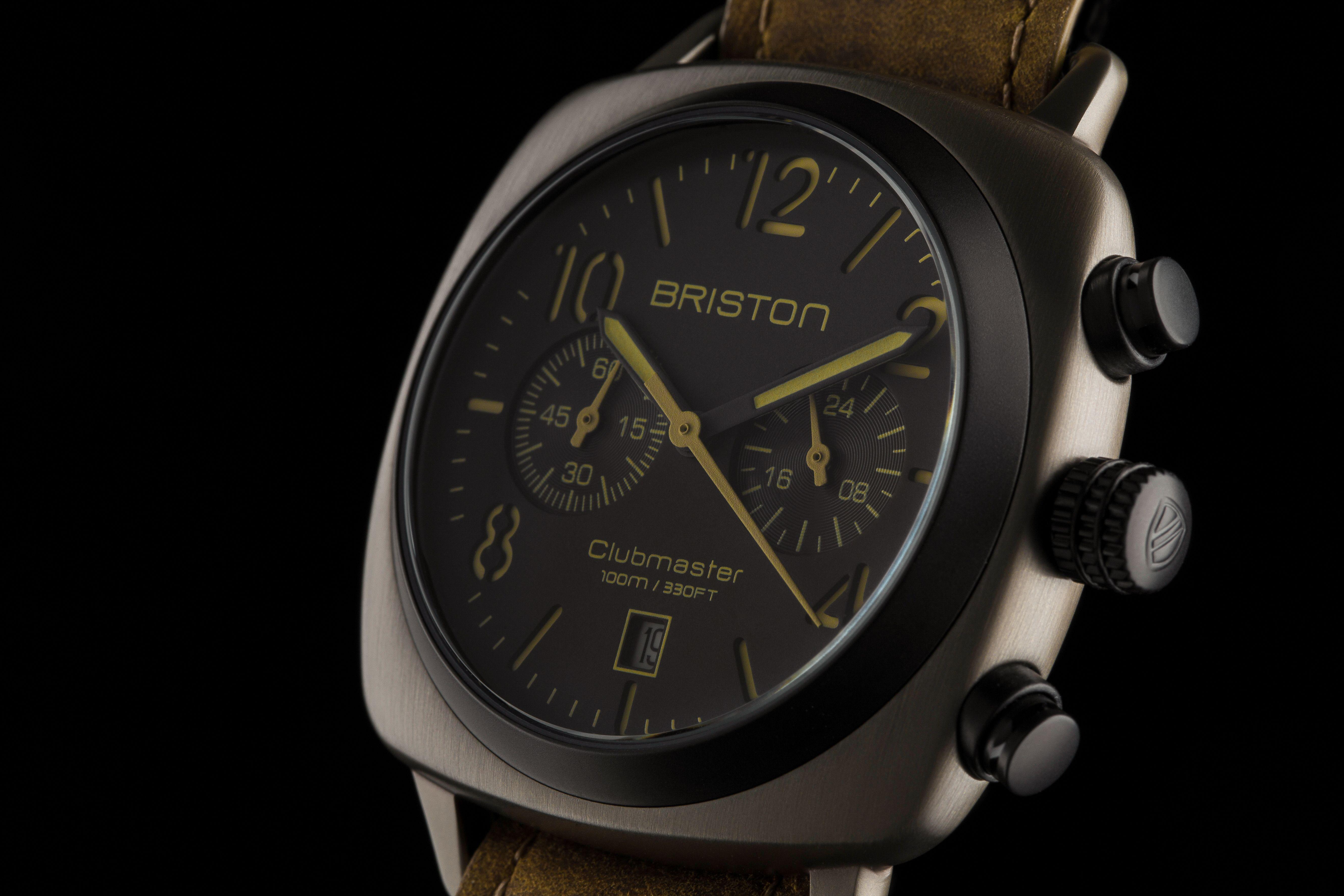 Clubmaster Classic Steel Chronograph Khaki - Briston watches ©Pierre Le targat