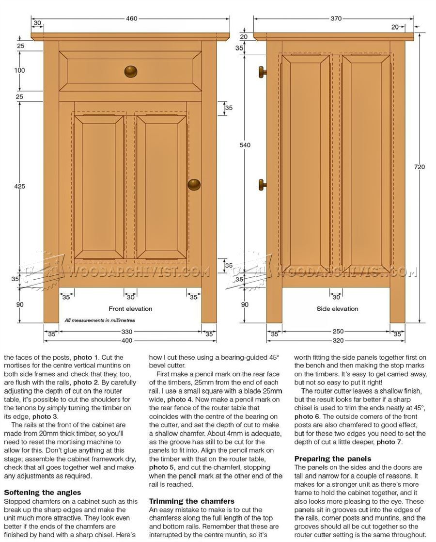 DIY Bedside Cabinet - Furniture Plans | Cabinet | Pinterest | Madera