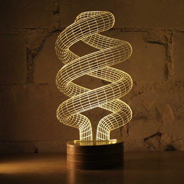Spiral Bulbing Optical Illusion Led Lamp Lamp Design 3d Optical Illusions Magical Lamp