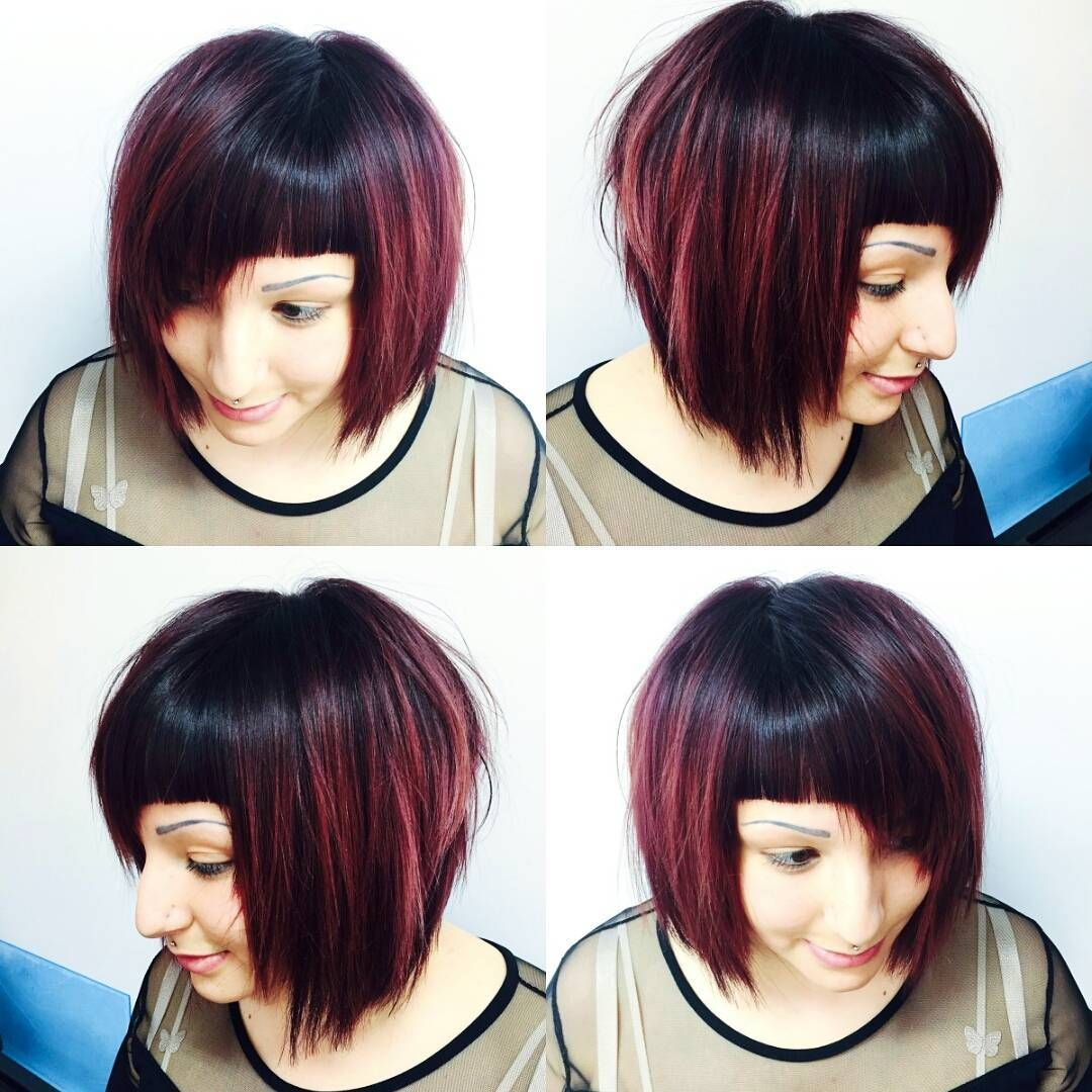 Textured Geometric Bob The Latest Hairstyles For Men And Women 2020 Hairstyleology Angled Bob Haircuts Damp Hair Styles Hair Styles
