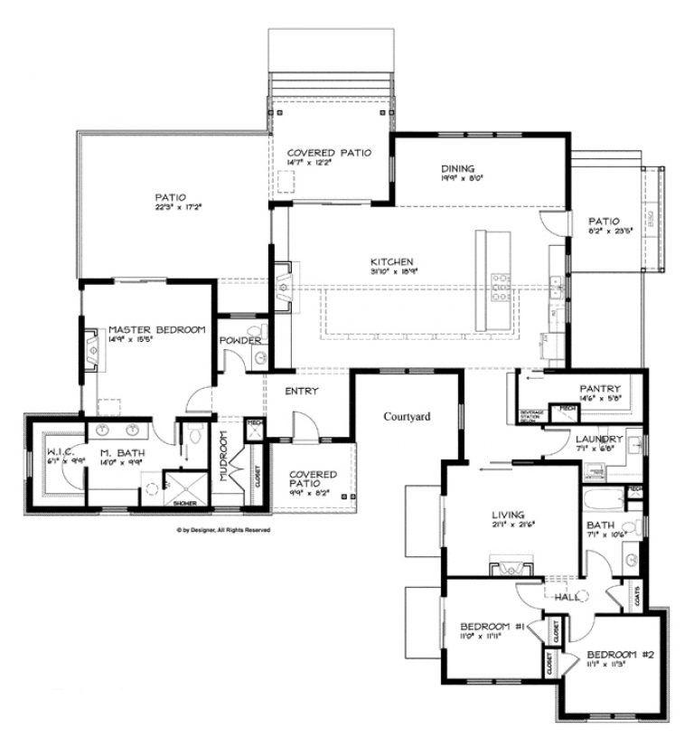 Fantastic Modern Single Storey House Plans In Home Decoration Design With Modern Si Modern House Plans Ranch Style House Plans Single Story House Floor Plans