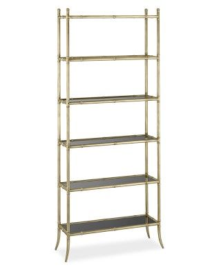 Tyler Etagere Black Glass 6 Shelf Bookcase Williamssonoma