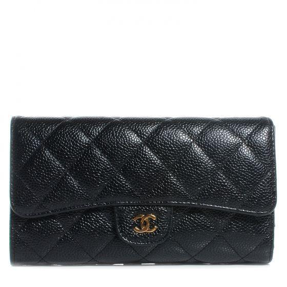 aa2f638d664f Chanel classic flap wallet in caviar | for the love of fashion in ...