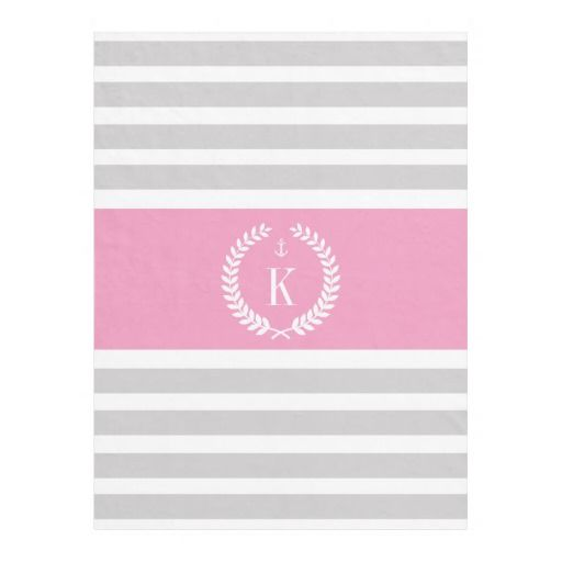 #Personalized #Monogram #Stripes #Grey #Pink #Fleece #Blanket #girly #college #bedroom http://www.zazzle.com/personalized_family_crest_stripe_pattern_grey_pink_manualwwfleeceblanket-256729776592487898?rf=238213022379565456