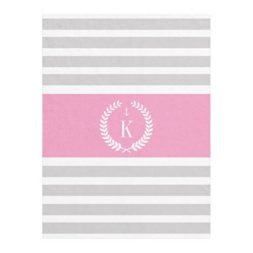 #Personalized #Monogram #Stripes #Grey #Pink #Fleece #Blanket #girly #college #bedroom http://www.zazzle.com/personalized_family_crest_stripe_pattern_grey_pink_manualwwfleeceblanket-256729776592487898?rf=238213022379565456