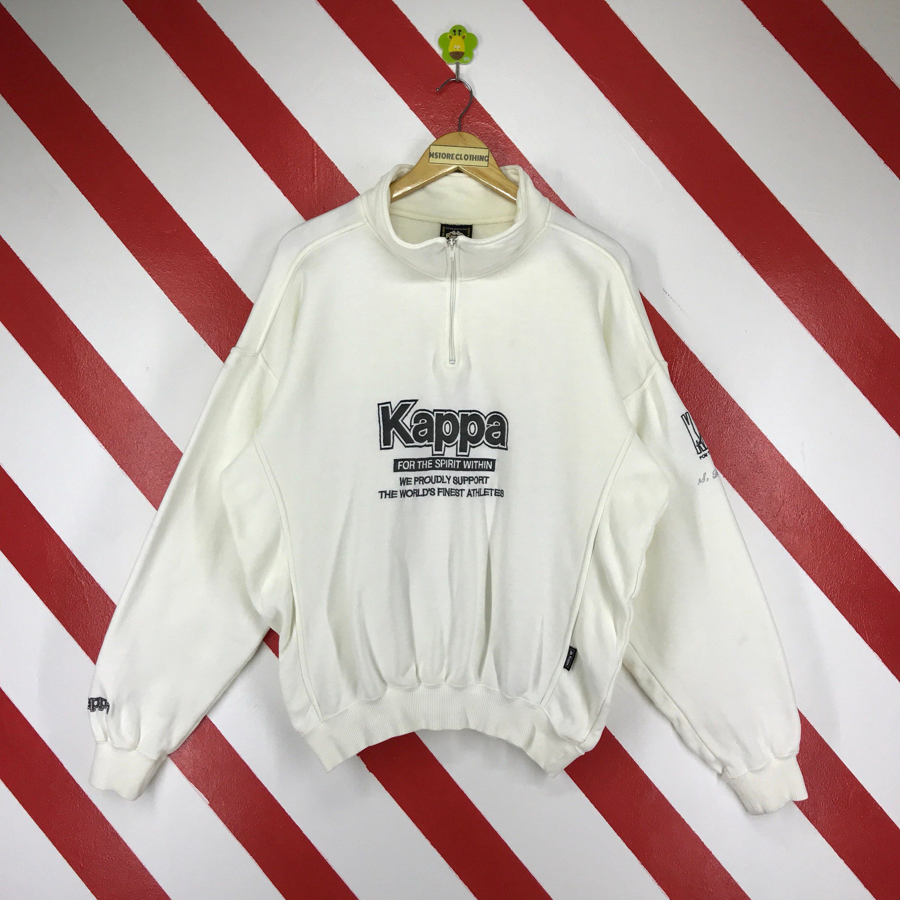 3052c718f45e Excited to share the latest addition to my  etsy shop  Vintage 90s Kappa  Sweatshirt Spellout Kappa Sweater Half Zip Kappa Jumper Big Logo Embroidery  Kappa ...