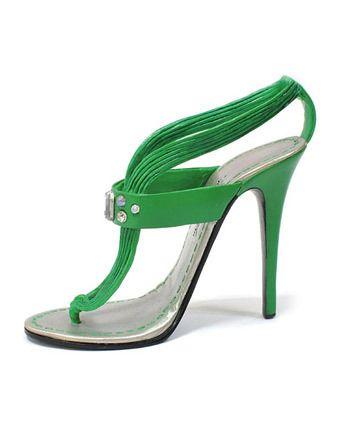 CHRISTIAN LOUBOUTIN Zuecos verde
