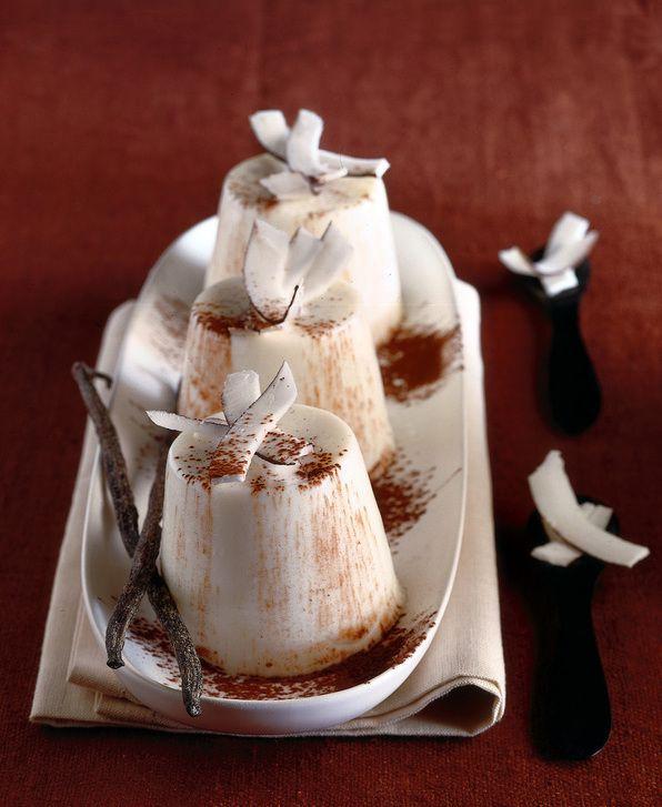 Budini Di Latte Di Cocco Al Cacao Amaro