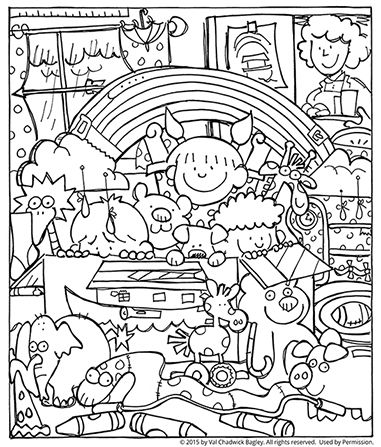 noah and the ark coloring page lesson i can be obedient primary - Coloring Pages Primary Lessons