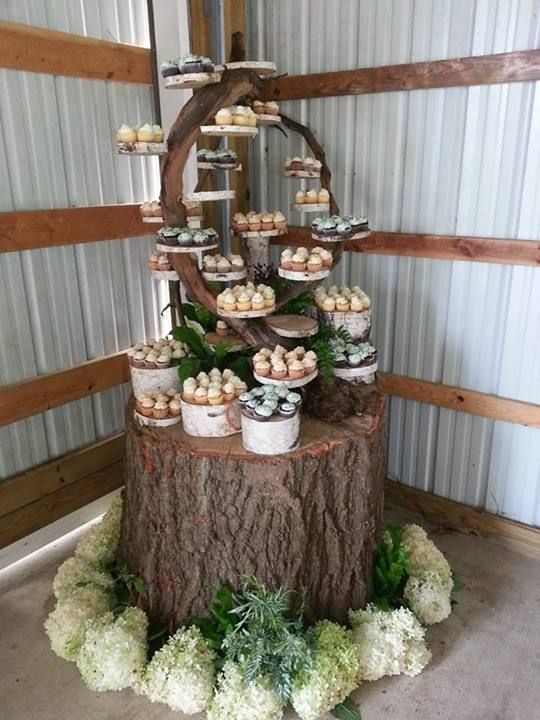 Awesome cupcake tree cupcake trees and ideas pinterest for Tree stand ideas