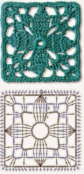 6 patrones de grannys al crochet | Crochet y dos agujas … | Crochet ...