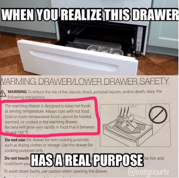 Pin By Halo On For The Home Useful Life Hacks Warming Drawer Simple Life Hacks