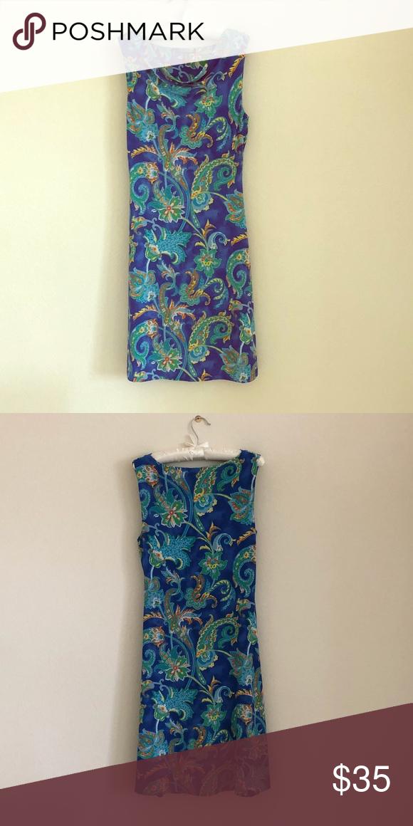 9096adf47f Ralph Lauren dress Blue floral dress