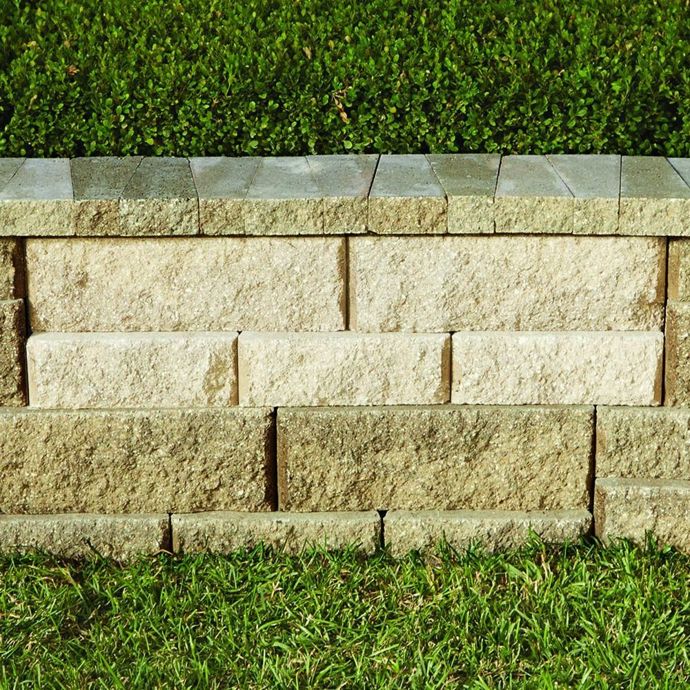 Pavestone Rockwall Large 6 In X 17 5 In X 7 In Pecan Concrete Retaining Wall Block 48 Pcs 34 9 Face Ft Pallet 79824 The Home Depot In 2020 Concrete Retaining Walls Retaining Wall Concrete Block Walls
