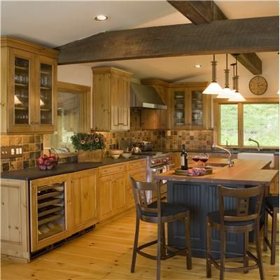 Rustic Kitchen House Pinterest Rustic kitchen, Kitchens and