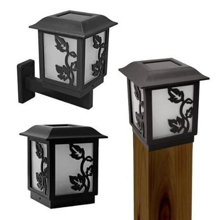 2 Pack Paradise Solar 3 In1 Outdoor Garden White Led Lantern Light Black Led Path Lights Lantern Lights Led Lantern