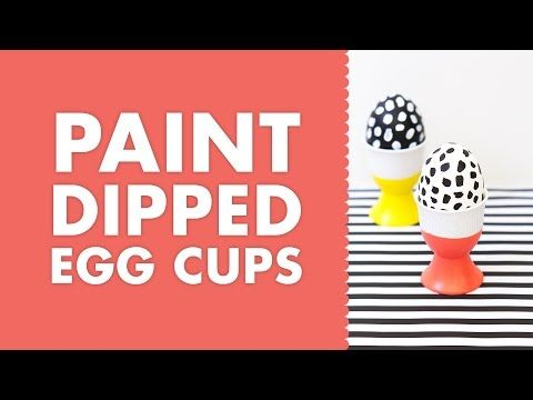 ▶ DIY Paint Dipped Porcelain Easter Egg Cups - YouTube
