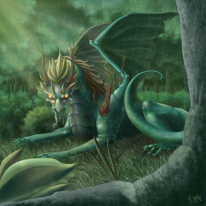 Forest Dragon by CindyAA.deviantart.com on @deviantART