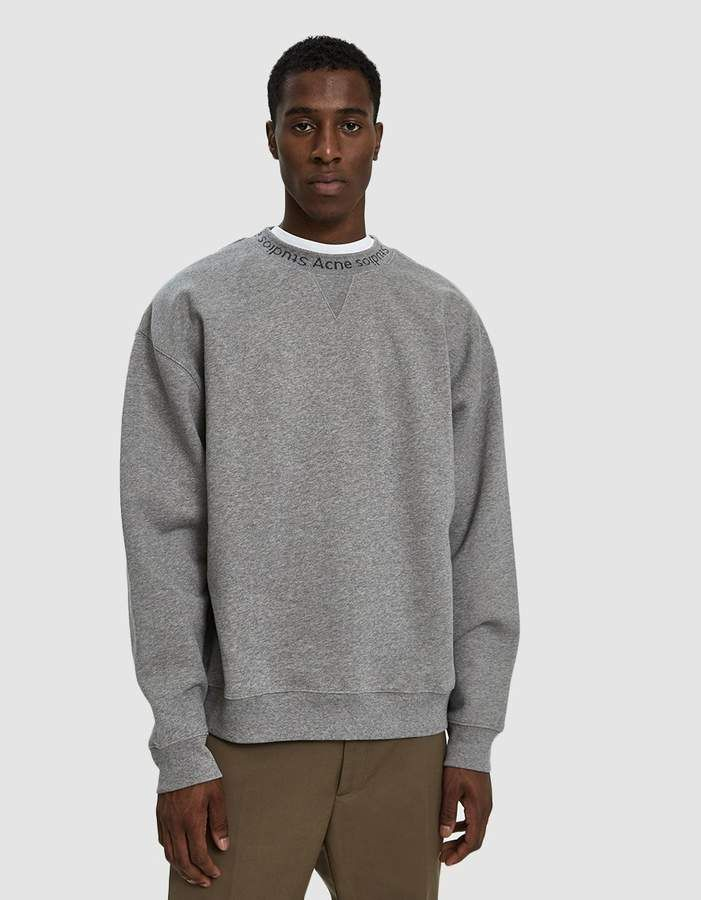 9a9b337883b Flogho Sweatshirt in Light Grey Melange | Products | Acne studios ...