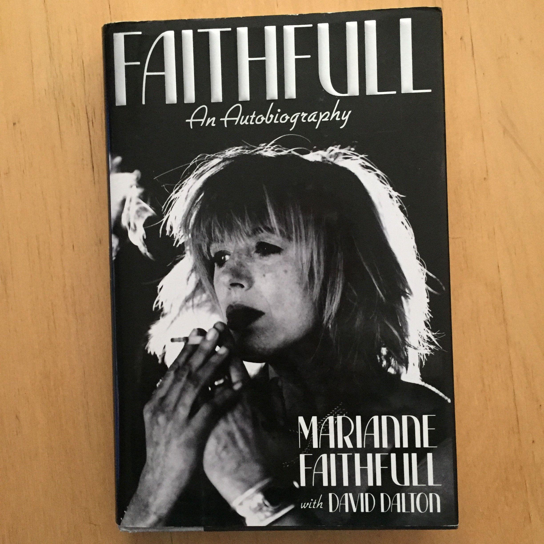 MarianneFaithfull Vintage HardcoverBook