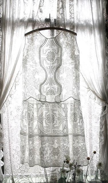 antique dress in backlight
