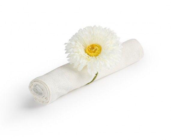Anneaux à serviette de table Flora - Ens. de 6