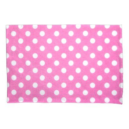 Polka Dot Pillowcases Adorable Pink Polka Dots Pillowcase Decorating Inspiration