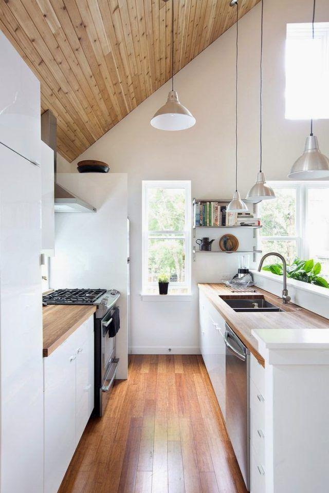 Más de 80 fotos de decoración de cocinas pequeñas: Con techos ...