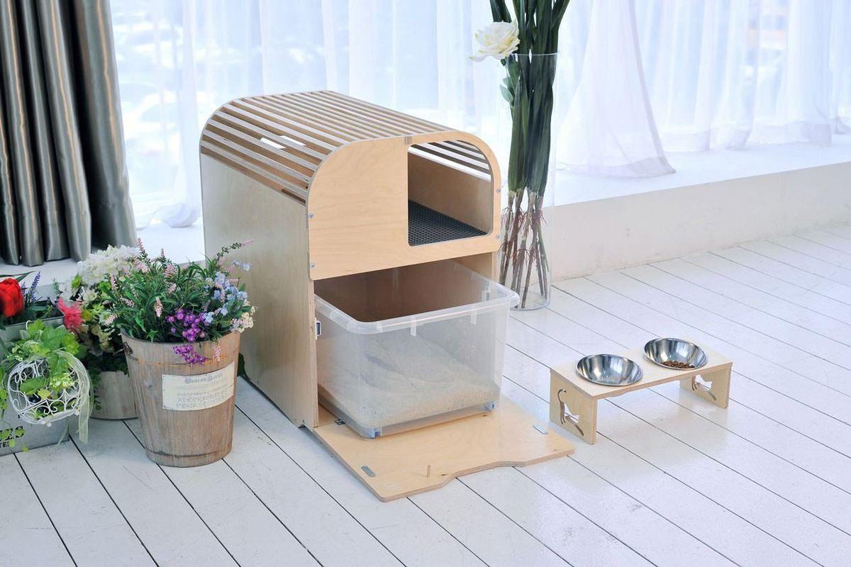Camada Litter Box Furniture Modern Cat Furniture Cat Litter Box Furniture