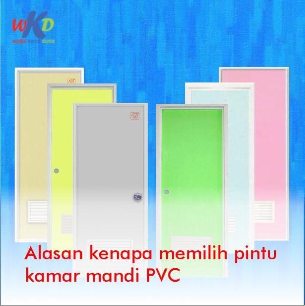 PVC (poly vinyl chloride) is a bathroom door made of …- PV…