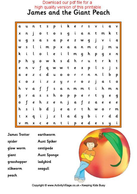 Worksheets James And The Giant Peach Worksheets crafts the ojays and search on pinterest