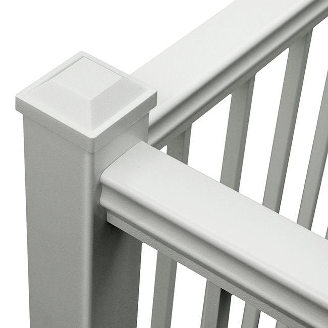 Aluminum Picket Railing Systems For Decks Aluminum Railing Menards Decks And Porches