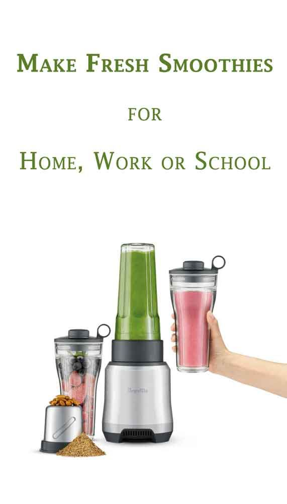 Make Delicious Fruit And Vegetable Based Smoothies To Enjoy At Home At Work Or At School With The Breville The Boss To With Images Fresh Smoothies Breville Blended Drinks