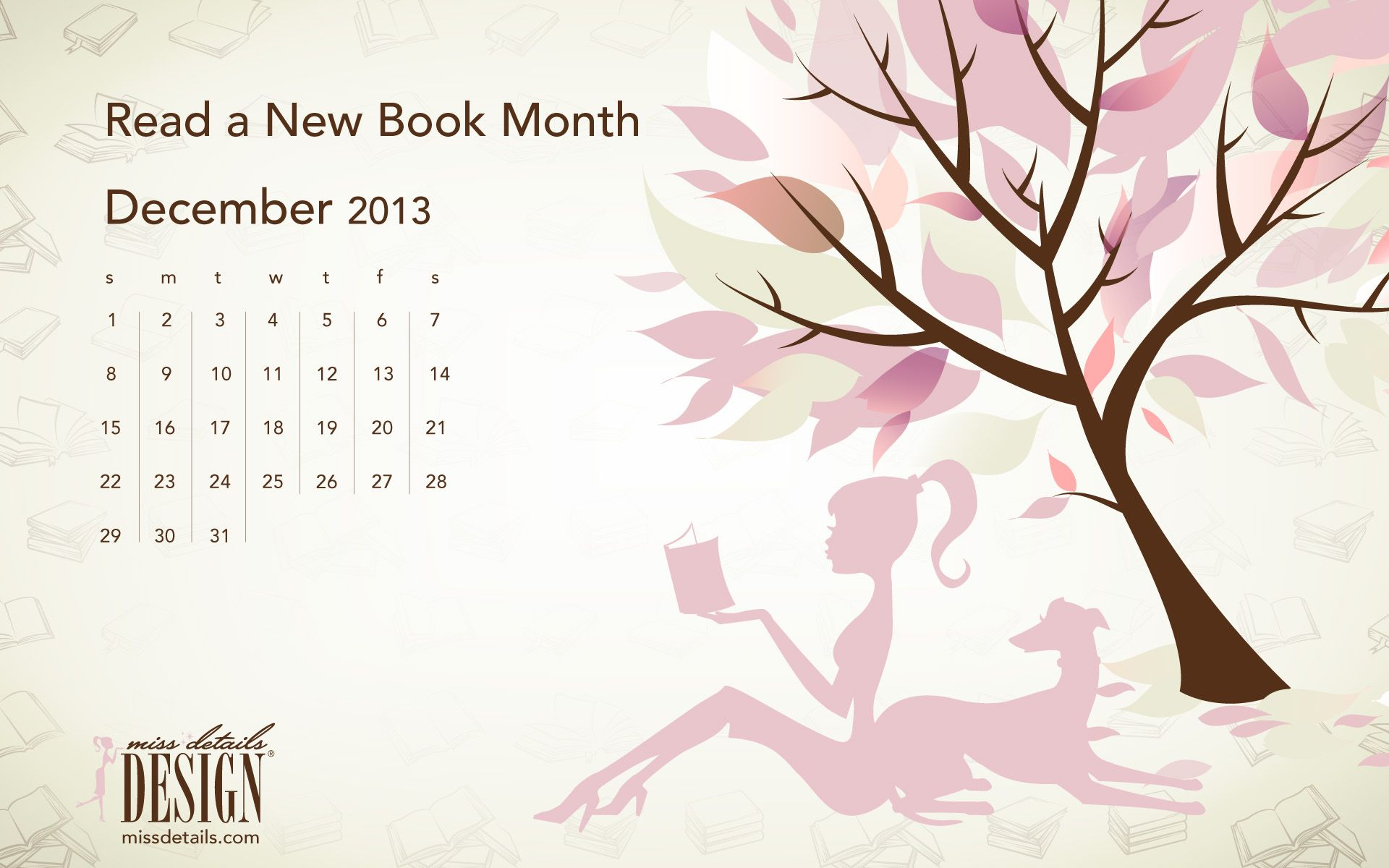 Free inspiring December desktop calendars from missdetails