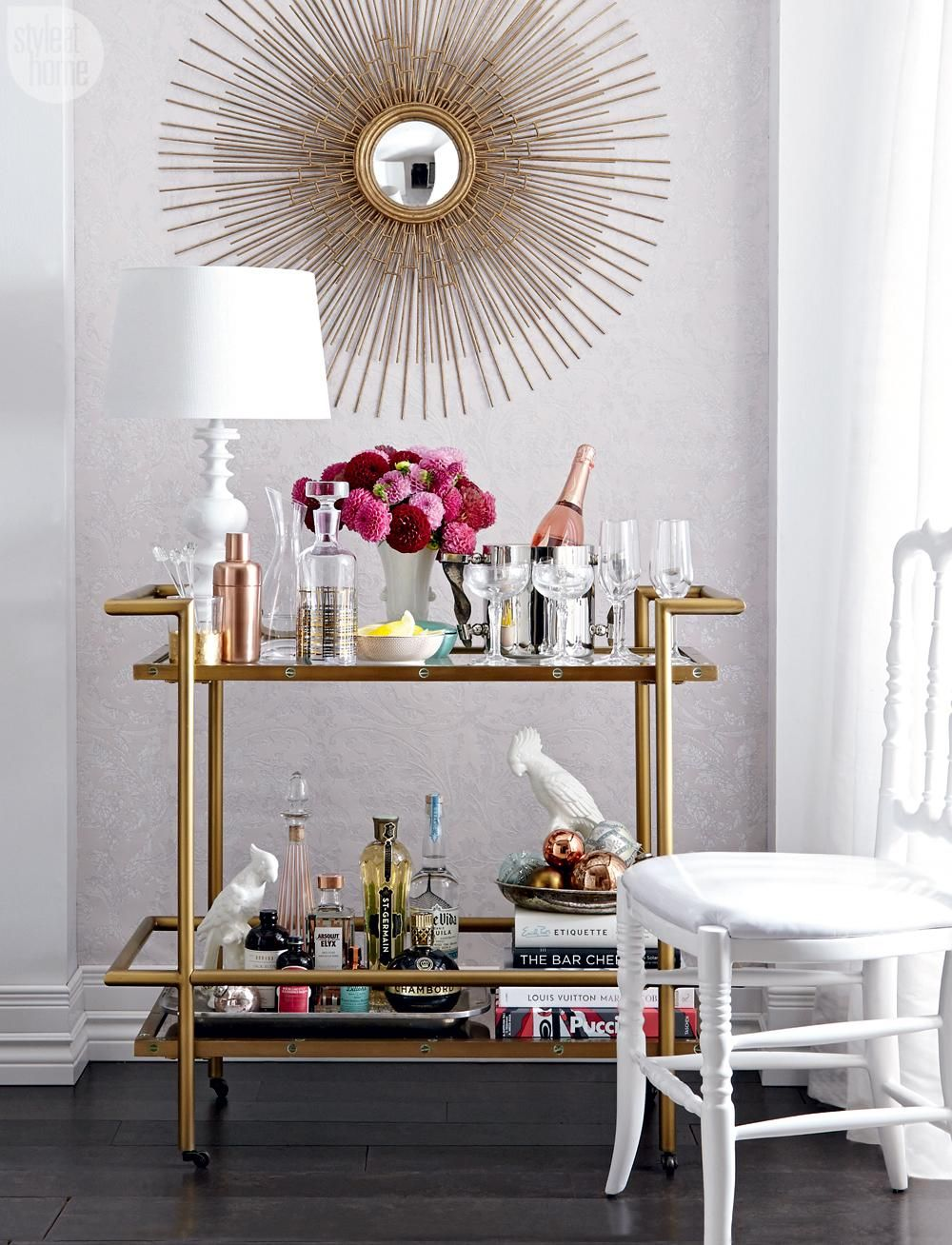 Pin by andrea ament salty canary on home bar u bar cart