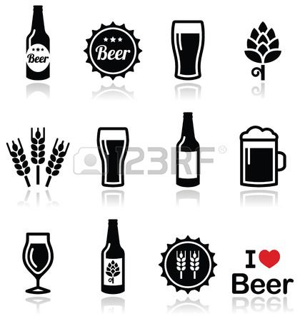 Beer Mug Silhouette Beer Glass Vector Black Beer Icon Beer