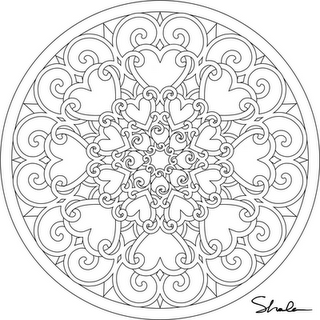 Several Valentine Mandalas To Print And Color Free Click On Image