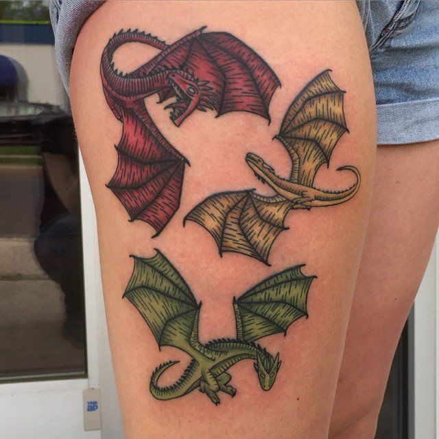 Daenerys Targaryen S Three Dragons Game Of Thrones Tattoo Dragon Tattoo Game Of Thrones Dragon Tattoo