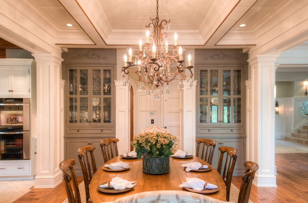 Built in China Cabinet Dining Room Traditional