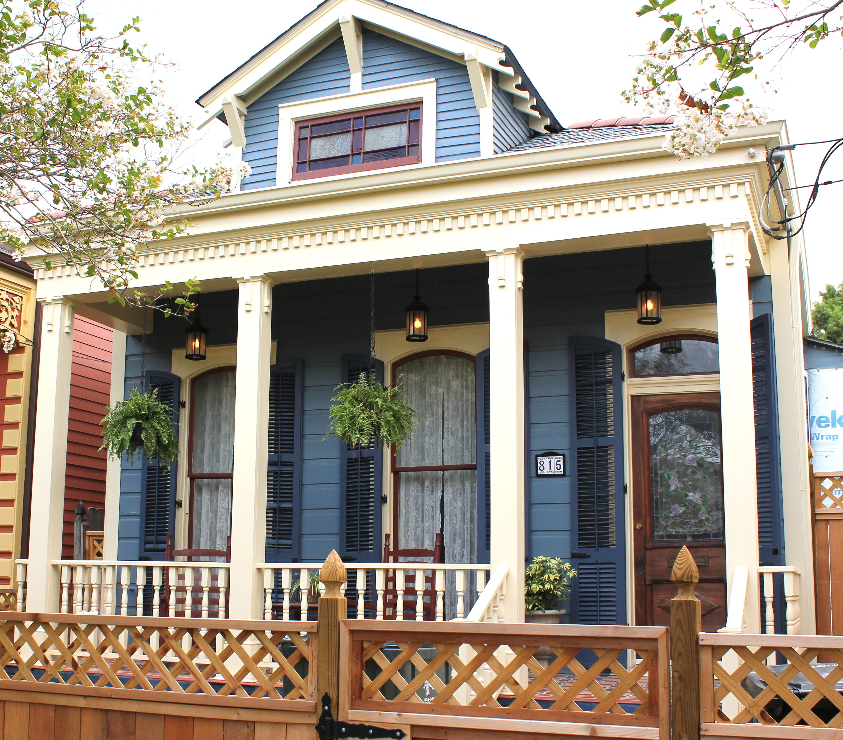 New Orleans House Paint Colors Blue Dark Blue Cream And