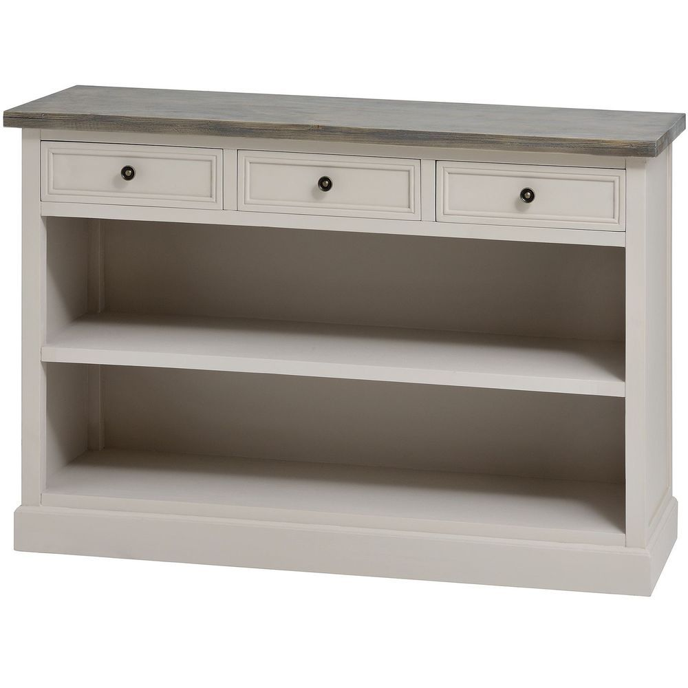 Studley Low 3 Drawer Chest Bookcase Cabinet With 3 Drawers And